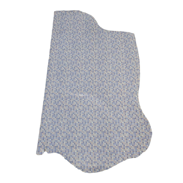 Woven Houndstooth Steel Blue, 3-4 oz Cow Hides, Retro Throwbacks, 9-10