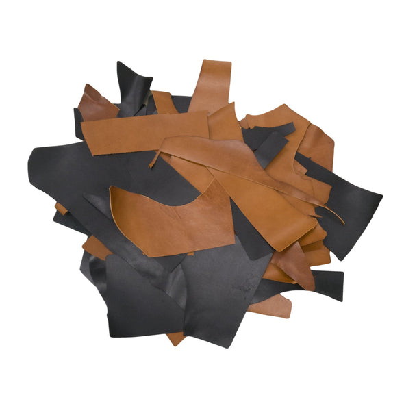 Brown and Black, 3-4 oz, 1 pound Bridle Scrap,