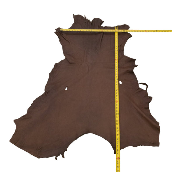 Chocolate Buckskin Deer Hides, 11 Square Foot / Hide 4 / 4-5oz
