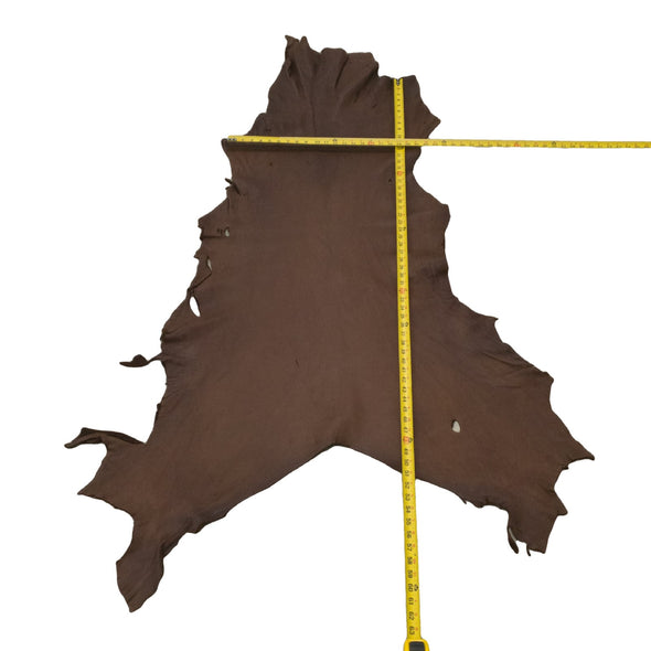 Chocolate Buckskin Deer Hides, 11 Square Foot / Hide 14 / 3-4oz