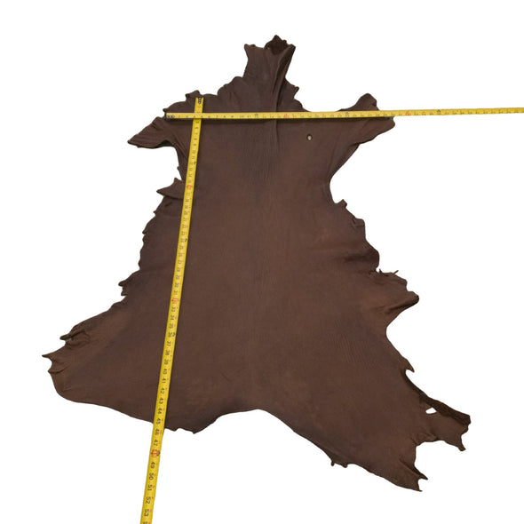 Chocolate Buckskin Deer Hides, 11 Square Foot / Hide 20 / 4-5oz