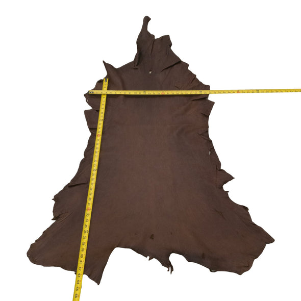 Chocolate Buckskin Deer Hides, 11 Square Foot / Hide 15 / 4-5oz