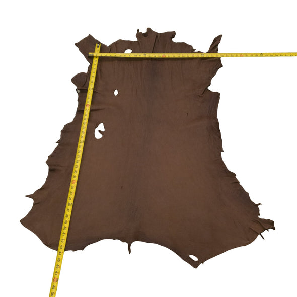 Chocolate Buckskin Deer Hides, 11 Square Foot / Hide 19 / 3-4oz