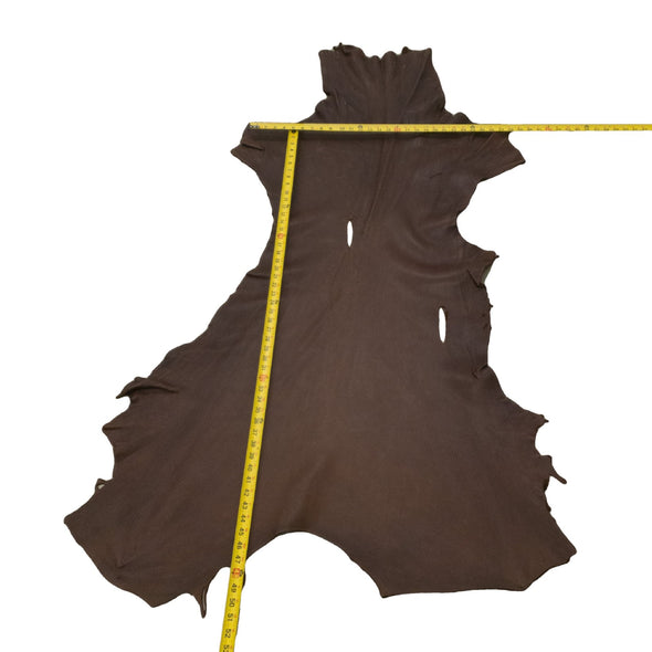 Chocolate Buckskin Deer Hides, 12 Square Foot / Hide 3 / 4-5oz