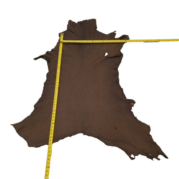 Chocolate Buckskin Deer Hides, 10 Square Foot / Hide 12 / 3-4oz