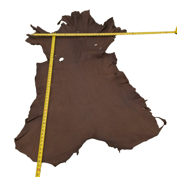 Chocolate Buckskin Deer Hides, 12 Square Foot / Hide 5 / 4-5oz