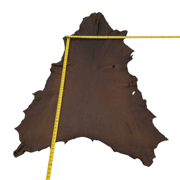 Chocolate Buckskin Deer Hides, 12 Square Foot / Hide 10 / 4-5oz