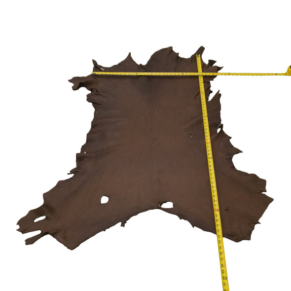 Chocolate Buckskin Deer Hides, 14 Square Foot / Hide 6 / 3-4oz