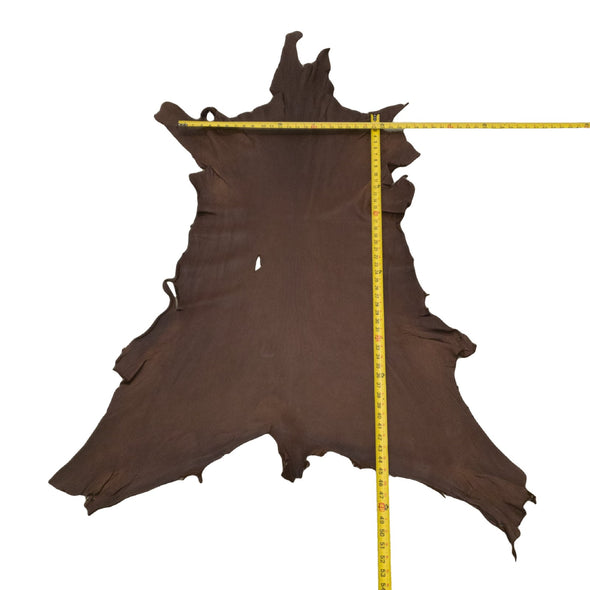 Chocolate Buckskin Deer Hides, 11 Square Foot / Hide 27 / 3-4oz
