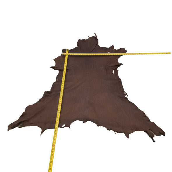 Chocolate Buckskin Deer Hides, 12 Square Foot / Hide 12 / 4-5oz