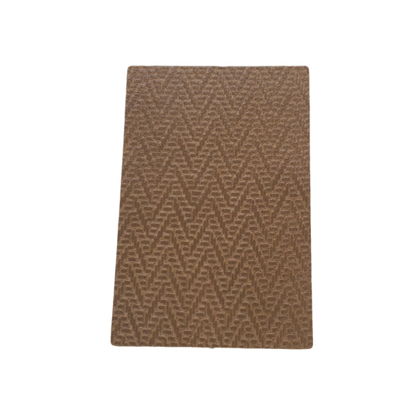 Hill Brown Zig Zag Basket Weave Cowhide Pre-cuts 2 1/2 oz, 4 x 6