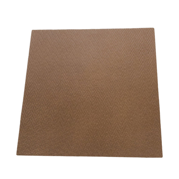 Hill Brown Zig Zag Basket Weave Cowhide Pre-cuts 2 1/2 oz, 12 x 12