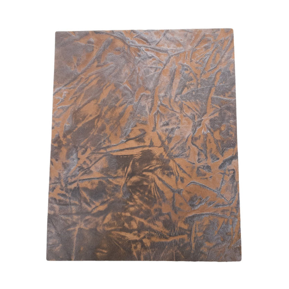 Western Brown Embossed Cowhide Pre-cuts 2.5-3.5 oz, 8 x 10
