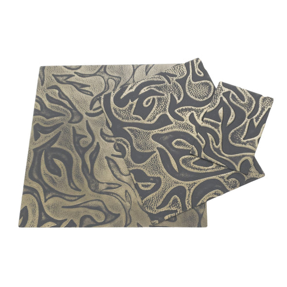 Bronze Waves Embossed Cowhide Pre-cuts 2.5-3.5 oz,
