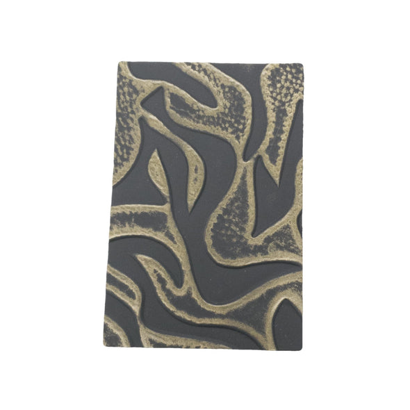 Bronze Waves Embossed Cowhide Pre-cuts 2.5-3.5 oz, 4 x 6