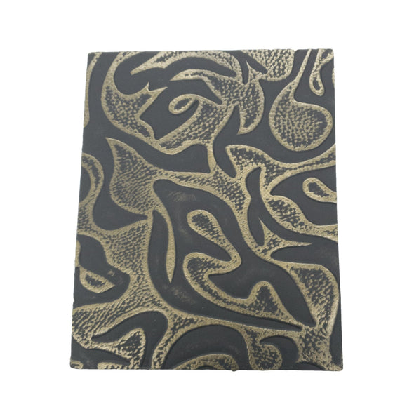 Bronze Waves Embossed Cowhide Pre-cuts 2.5-3.5 oz, 8 x 10
