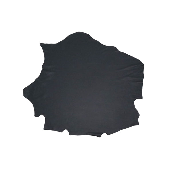 Black, 8-10 Sq Ft, 3-5 oz, Premium Upholstery Cowhide Project Pieces,