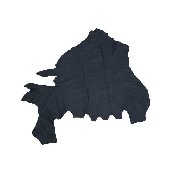 Black, Low Grade Upholstery Cowhide Project Pieces,
