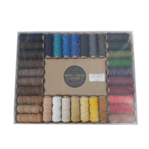 "Maine Thread Waxed Polycord .035"" - Various Colors, Collection Pack / Various"