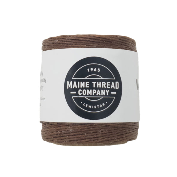 "Maine Thread Waxed Polycord .035"" - Various Colors, Single / Gold Brown"