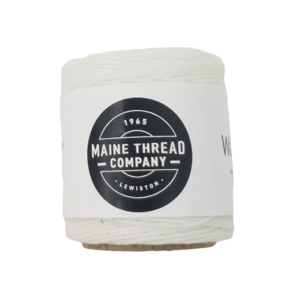 "Maine Thread Waxed Polycord .035"" - Various Colors, Single / White"