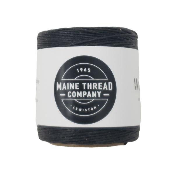"Maine Thread Waxed Polycord .035"" - Various Colors, Single / Black"