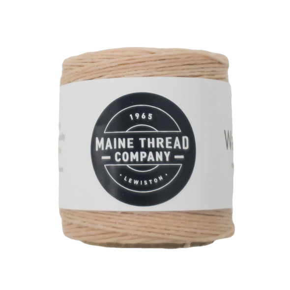 "Maine Thread Waxed Polycord .035"" - Various Colors, Single / Natural"