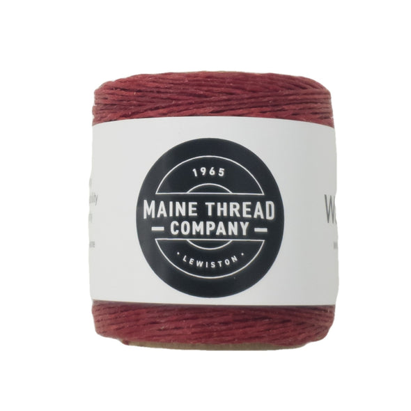 "Maine Thread Waxed Polycord .035"" - Various Colors, Single / Scarlet"