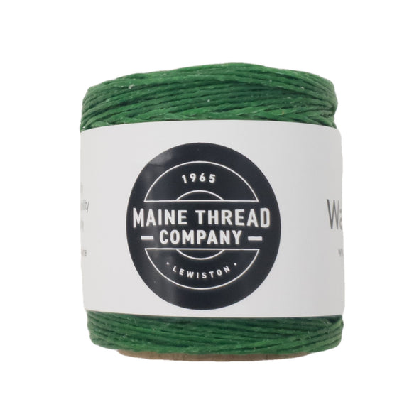 "Maine Thread Waxed Polycord .035"" - Various Colors, Single / Kelly Green"