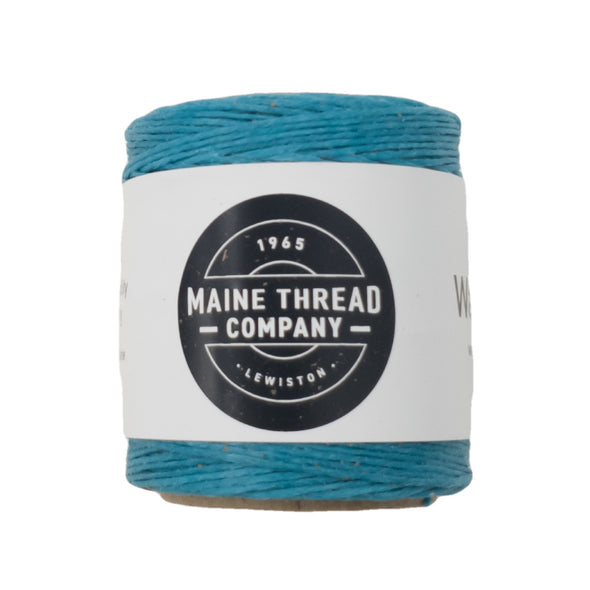 "Maine Thread Waxed Polycord .035"" - Various Colors, Single / Turquoise"