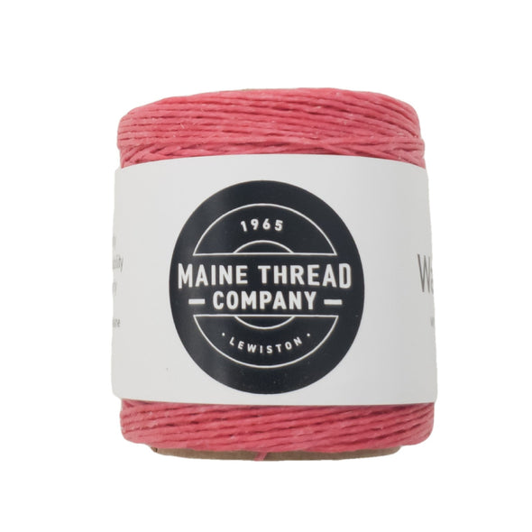"Maine Thread Waxed Polycord .035"" - Various Colors, Single / Hot Pink"