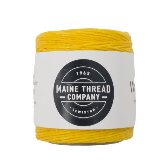 "Maine Thread Waxed Polycord .035"" - Various Colors, Single / Yellow"