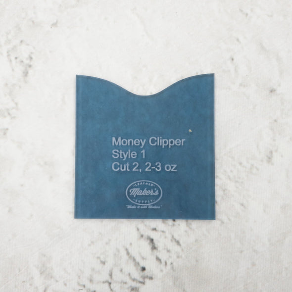 Maker's Leather Supply Money Clipper Template Set,