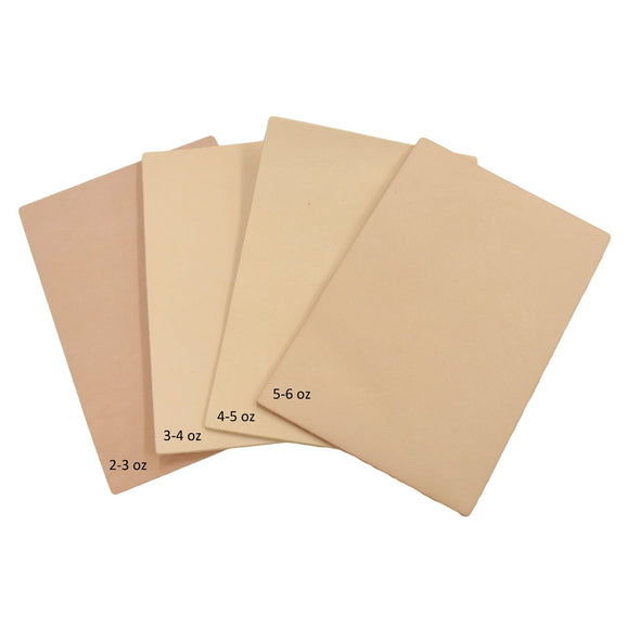 Artisan's Choice Various Pre-cut Sizes Leather Packs Veg Tan Cow 3-10 oz, 4x6 / Light