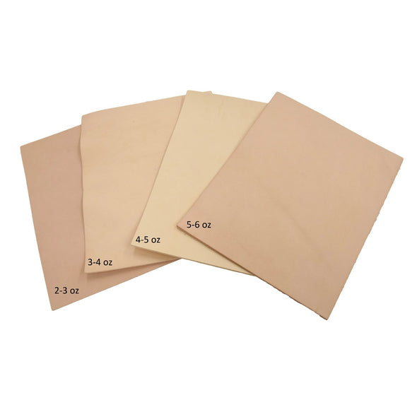 Artisan's Choice Various Pre-cut Sizes Leather Packs Veg Tan Cow 3-10 oz, 8x10 / Light