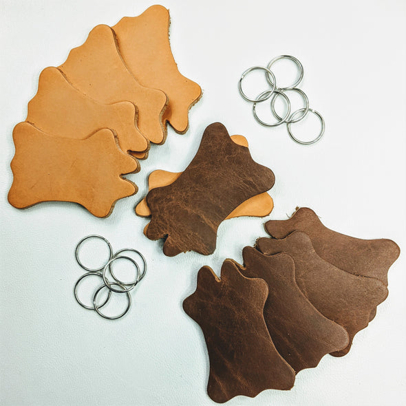 Cowhide Shaped Patch or Keychain,