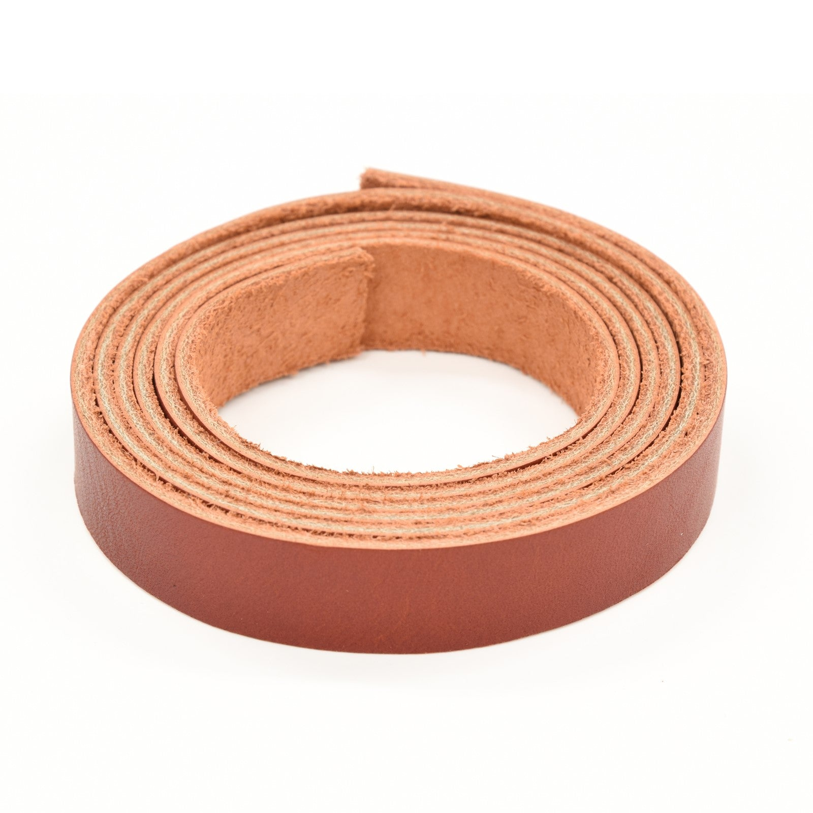 "Oil Tanned Leather 54"" Strap Various Colors and Widths 4-6 oz, Red / 3/4"