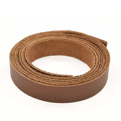 "Oil Tanned Leather 54"" Strap Various Colors and Widths 4-6 oz, Dark Brown / 3/4"