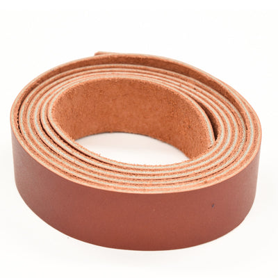 "Oil Tanned Leather 54"" Strap Various Colors and Widths 4-6 oz, Red / 1"