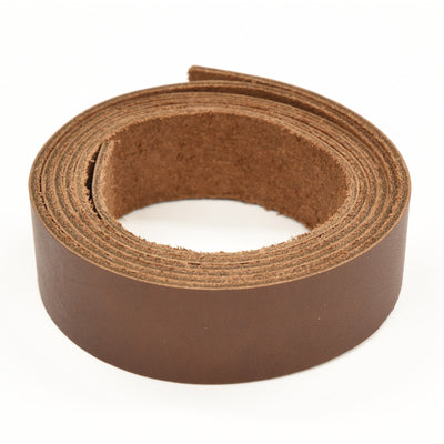 "Oil Tanned Leather 54"" Strap Various Colors and Widths 4-6 oz, Dark Brown / 1"