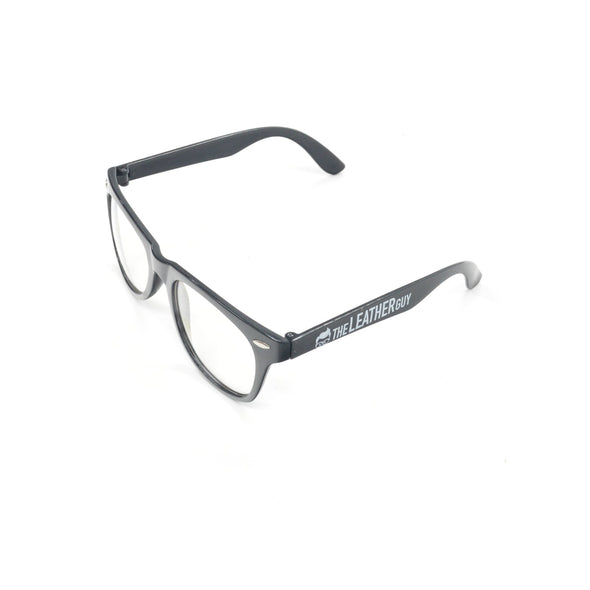 Leather Guy SWAG Exclusive - Leather Guy Fashion Glasses w/Clear Leans and Logo,