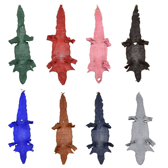Alligator Skin Belly Various Colors Genuine Leather Hide,