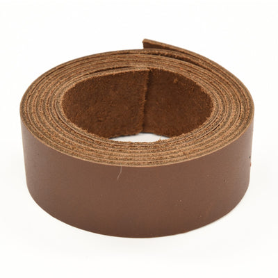 "Oil Tanned Leather 54"" Strap Various Colors and Widths 4-6 oz, Dark Brown / 1 1/4"