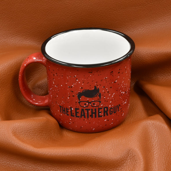 Leather Guy SWAG Exclusive - Ceramic Red Mug 15oz with Leather Guy Logo,