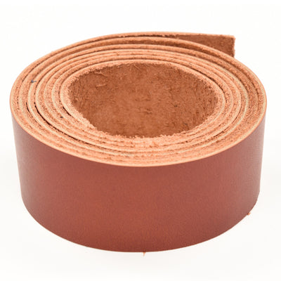 "Oil Tanned Leather 54"" Strap Various Colors and Widths 4-6 oz, Red / 1 1/2"