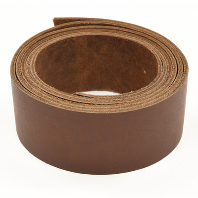 "Oil Tanned Leather 54"" Strap Various Colors and Widths 4-6 oz, Dark Brown / 1 1/2"