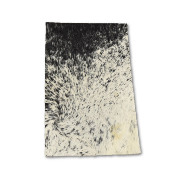 "Journal Cover A4 Spotted Light Black/White Hair-on 20"" x 12.25"" Cowhide Leather,"