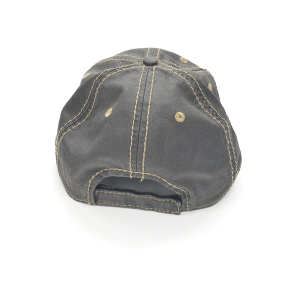 Leather Guy SWAG Exclusive - Distressed Black Baseball Cap with Logo,