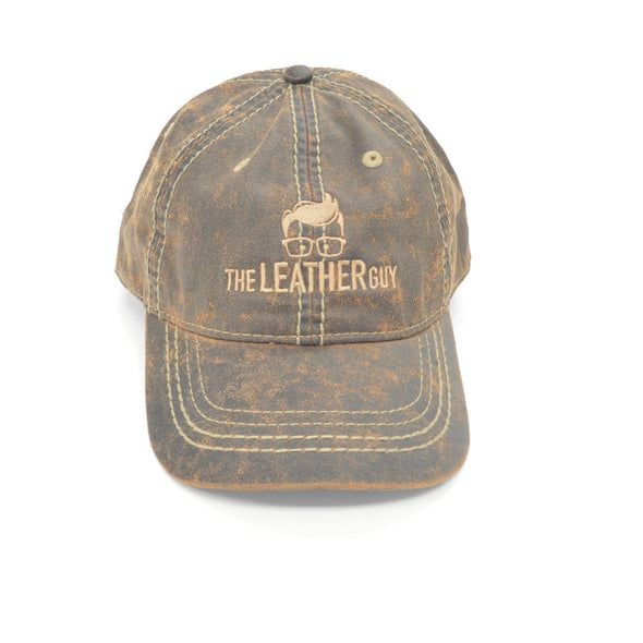 Leather Guy SWAG Exclusive - Distressed Brown Baseball Cap with Logo,
