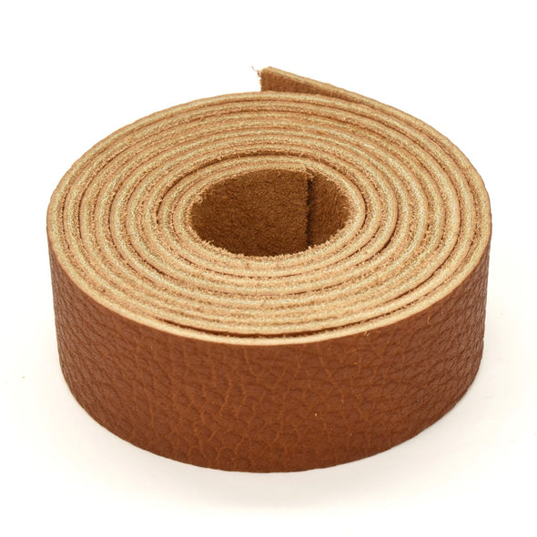 "Oil Tanned Leather 54"" Strap Various Colors and Widths 4-6 oz, Burnt Orange / 1"